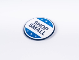 """Button Pins Shop Small """"American Express"""""""